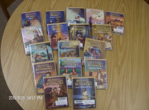 Our local United Methodist Women have recently purchased a set of animated Bible stories on DVD for our library. We are very grateful for their donation. Stop in and check out one or a few for your family to enjoy!