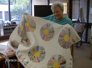 Congratulations to this year's Friends of the Library Quilt Drawing Winner, Lynn Whitaker!