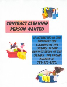 Cleaning Person Wanted